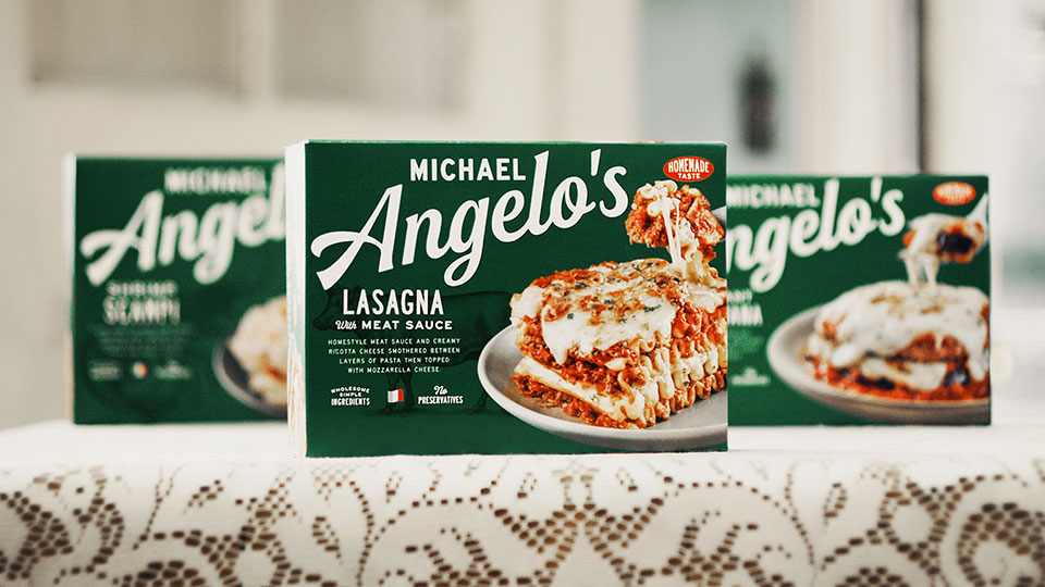 Michael Angelo's packaging on table